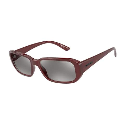 Arnette AN4265 27486G 55 Shiny Red Man Rectangle Sunglasses