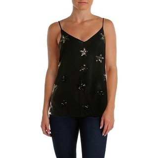Two by Vince Camuto Womens Cami Sheer Sequined