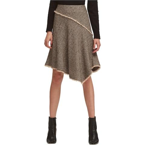 Dkny Womens Polished Nature Asymmetrical Skirt