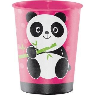 Club Pack of 12 Pink and White Polka Dots Pattern Panda Monium Keepsake Cups 4.5