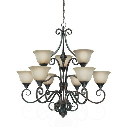 Jeremiah Lighting 24929 Torrey Two Tier 9 Light Chandelier - 35.5 Inches Wide