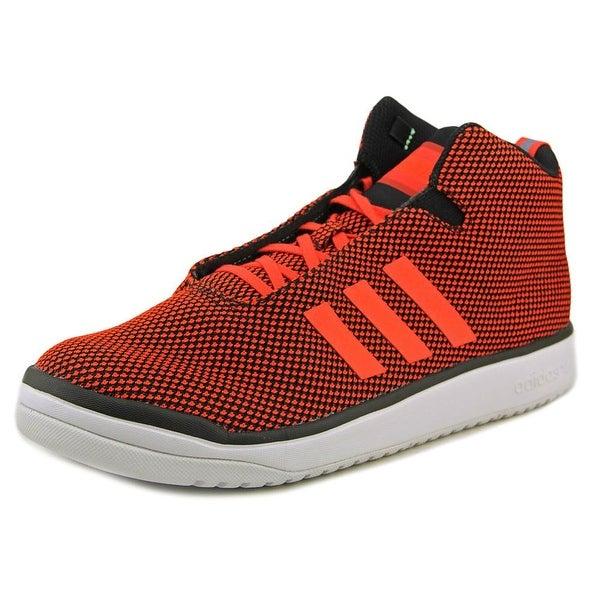 Adidas Veritas Mid Men Round Toe Canvas Red Sneakers