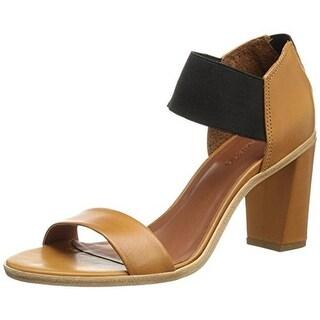 Bernardo Womens Helen Open-Toe Heels Textured Ankle Strap