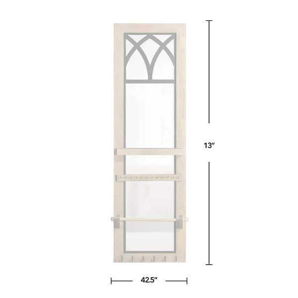 Shop Firstime Co Amelie Arch Jewelry Armoire American Crafted Brown Rustic Wood Wood 13 X 5 X 46 5 In 13 X 5 X 46 5 In Overstock 31804823