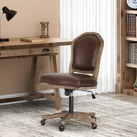 Scilley Upholstered Swivel Office Chair by Christopher Knight Home