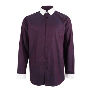 INC International Concepts Mens Contrast Collar Shirt