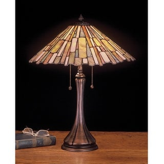 23 Inch H Jadestone Delta Table Lamp Table Lamps