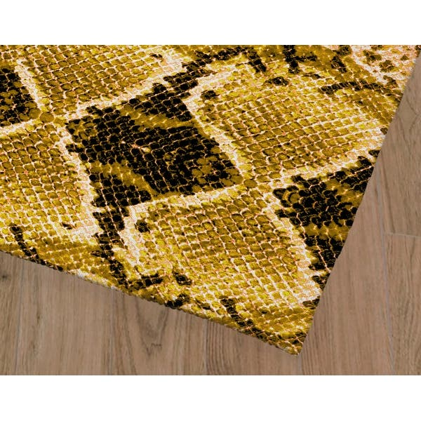 Cobra Gold Area Rug By Kavka Designs On Sale Overstock 31567520