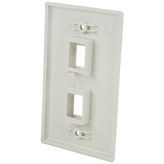 Startech Plate2wh Startech Accessory Plate2wh Dual Outlet Rj45 Universal Wall Plate White Retail