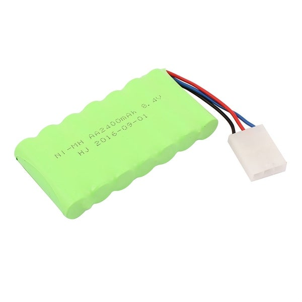 Green DC 8.4V 2400mAh Rechargable Ni-MH AA Battery Pack for RC Airplane Aircraft