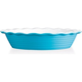 Palais Dinnerware Tarte Collection Ceramic Pie Dish 10 Diameter Aqua