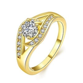 Crystal Jewels Centerpiece Gold Ring