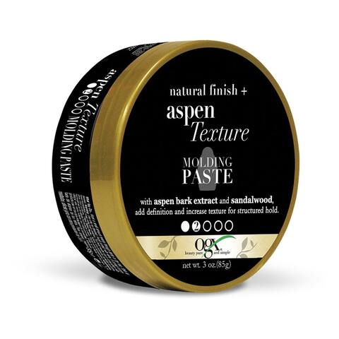 OGX Natural Finish + Aspen Texture Molding Paste 3 Ounce - Black - 3 oz