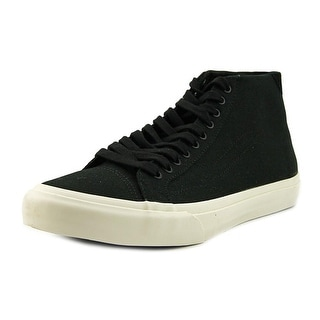 Vans 106 Hi Men  Round Toe Canvas Black Skate Shoe