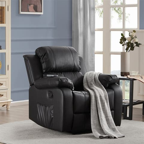 Merax Heated Massage Recliner Sofa Chair Ergonomic Lounge with 8 Vibration Motors