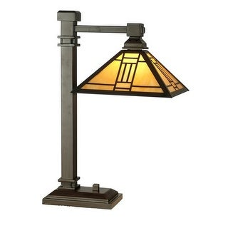 "Dale Tiffany TT100016 22"" Noir Mission Desk Lamp with 1 Light"