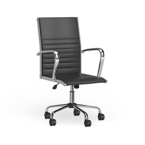 Porch & Den Speer Modern Faux Leather Office Chair
