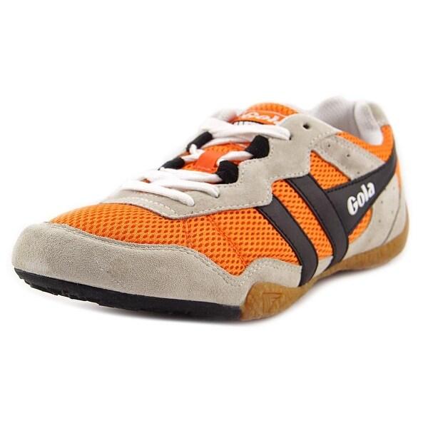 Gola Contact Men Round Toe Canvas Orange Sneakers