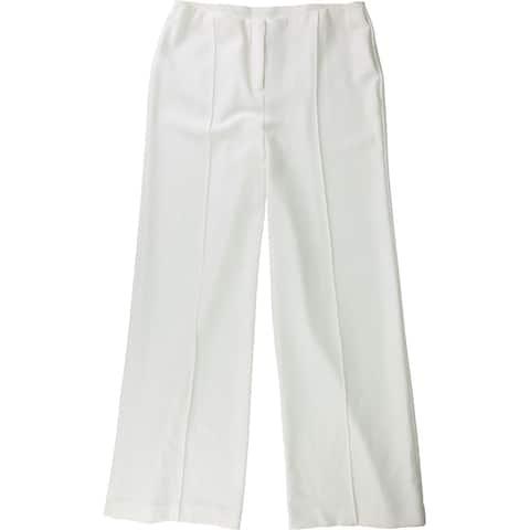 Alfani Womens Wide-Leg Culotte Pants, Off-white, 6 Long
