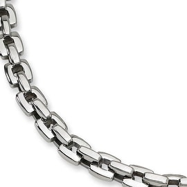 Chisel Polished Stainless Steel Necklace 20 Inches 8 Mm 20 In