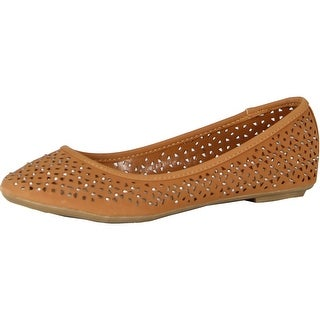 Luo Luo Womens Sophie Studded Flats Shoes