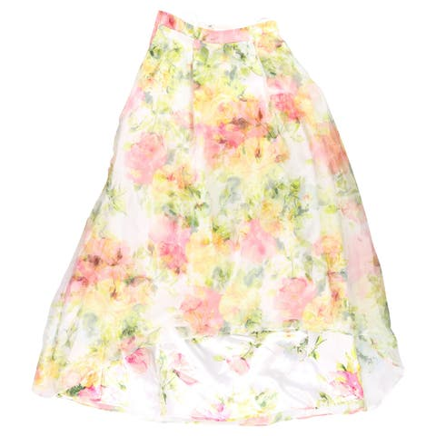 City Studio Womens Floral A-Line Skirt