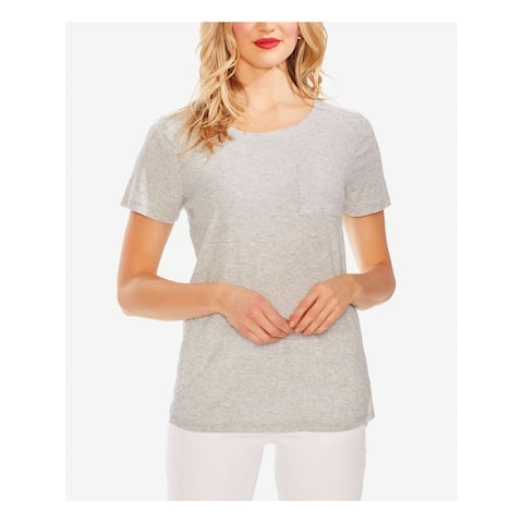 TWO BY VINCE CAMUTO Gray Short Sleeve T-Shirt Top XL