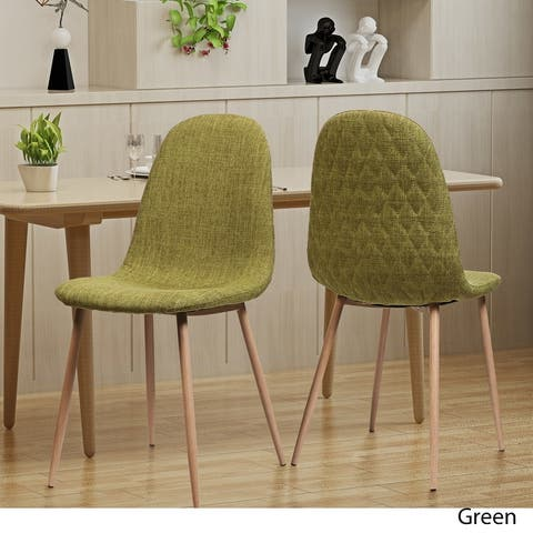 Caden Mid-century Fabric Dining Chair (Set of 2) by Christopher Knight Home
