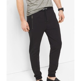 Michael Kors NEW Black Womens Size XL Mesh-Trim Slim Pants Stretch