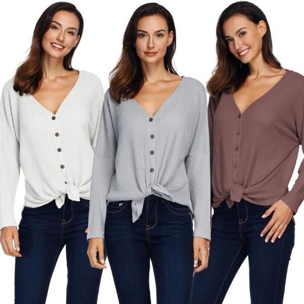 Womens Sweater Plus Size Open Front Cardigan Long Sleeve Lightweight Cardigan