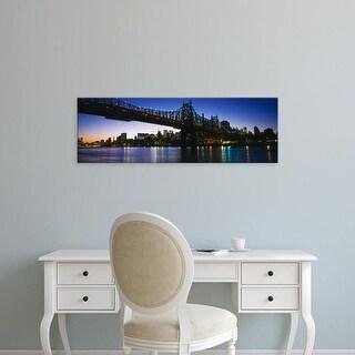 Easy Art Prints Panoramic Images's 'USA, New York City, 59th Street Bridge' Premium Canvas Art
