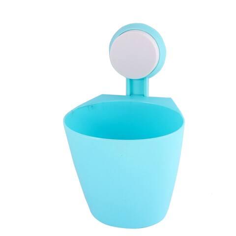 Suction Cup Absorption Plastic Bath Shower Pocket Basket Orgarizer Holder