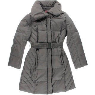 Gallery Womens Petites Down Quilted Coat - ps