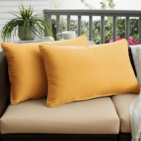 Butter Yellow Indoor/ Outdoor Pillow Set