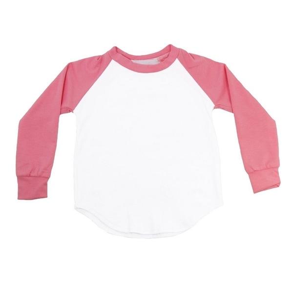 Unisex Baby Salmon Two Tone Long Sleeve Raglan Baseball T-Shirt