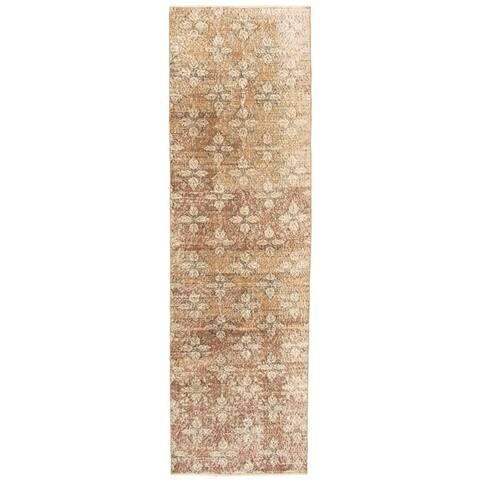 ECARPETGALLERY Hand-knotted Melis Vintage Brown Wool Rug - 2'11 x 10'7