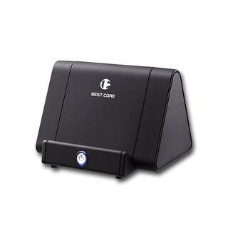 Indigi® Mini Black Magic iBoost Amplifying Speaker Stand - 750mAh - No Bluetooth needed - Universally Compatible