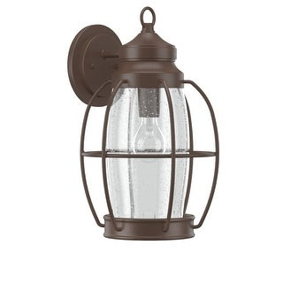 """Park Harbor PHEL2902 West Rock 16"""" Tall 1-Light Outdoor Wall Sconce - Chocolate Bronze - N/A"""