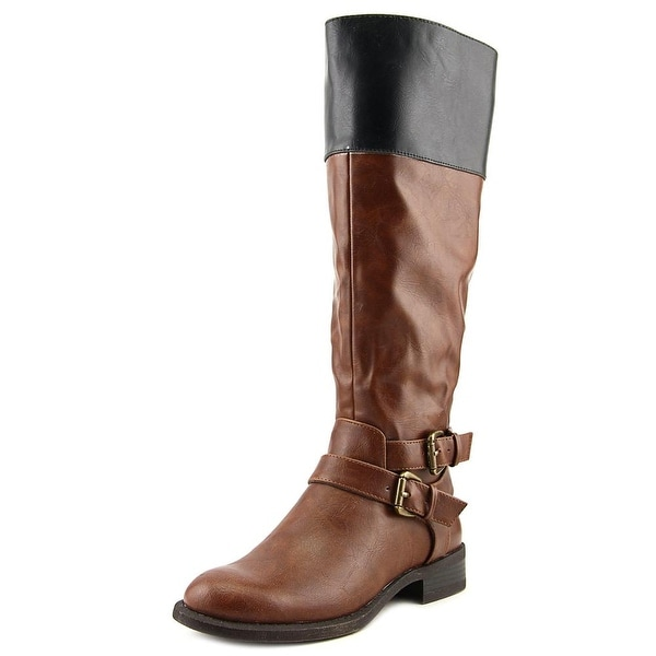 Nine West Leora Round Toe Synthetic Knee High Boot