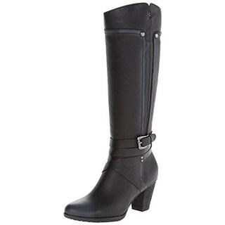 Blondo Womens Frida Knee-High Boots Leather Belted - 5 medium (b,m)
