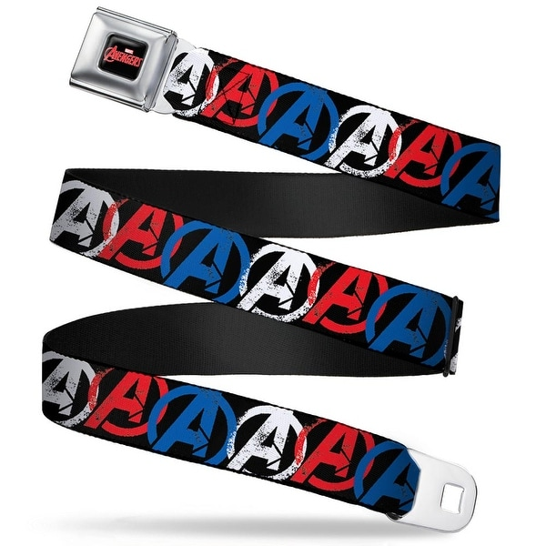 Marvel Avengers Marvel Avengers Logo Full Color Black Red White Avengers Seatbelt Belt