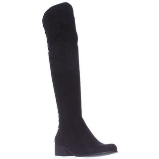 Charles by Charles David Gunter Over The Knee Back Bow Boots - Black