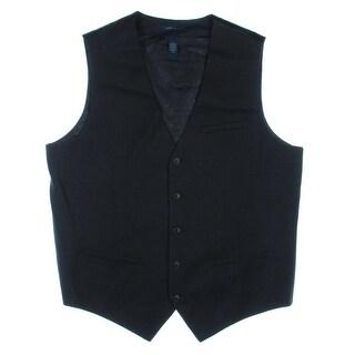 Perry Ellis Mens Pinstripe Lined Suit Vest - S