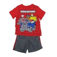 Nickelodeon Little Boys Red Paw Patrol Short Sleeve Top 2 Pc Shorts Outfit