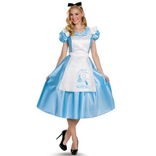 Disguise Classic Alice Deluxe Adult Costume - Blue
