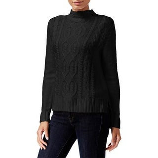 Kensie Womens Mock Turtleneck Sweater Cable Knit Ribbed Trim (More options available)