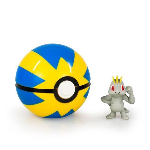 Pokemon Clip and Carry Poke Ball - Machop Figure w Quick Ball - Multi