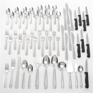 Gibson 91459.55 Palmore Plus Stainless Steel 55-Piece Flatware Set