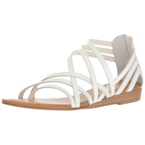 Carlos by Carlos Santana Womens Amara Leather Split Toe Casual Strappy Sandals