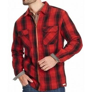 Weatherproof Vintage Red Mens Size XL Full-Zip Plaid Shirt Jacket
